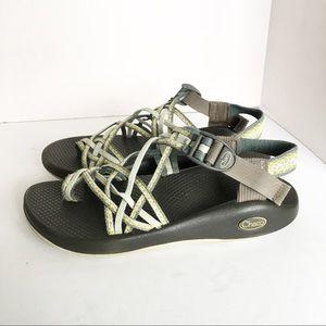Chaco Sandals 3 Strap Light Green Women's 9